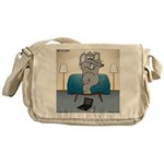Polar Bears and Reindeer Messenger Bag