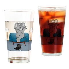 Polar Bears and Reindeer Drinking Glass