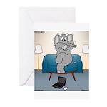 Polar Bears and Reindeer Greeting Cards (Pk of 20)