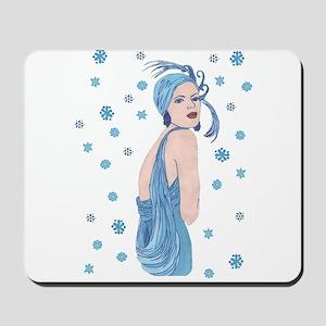 Blue Flapper Christmas Mousepad