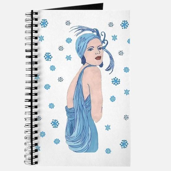 Blue Flapper Christmas Journal