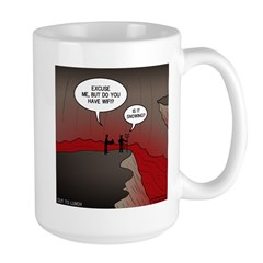 Wi-Fi in Hell Large Mug
