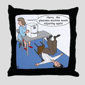 Glaucoma Machine Throw Pillow