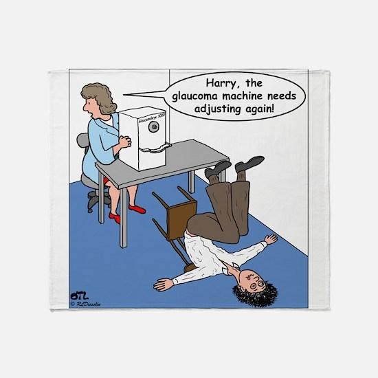 Glaucoma Machine Throw Blanket
