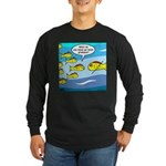 Fish Graduation Long Sleeve Dark T-Shirt
