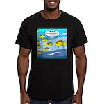 Fish Graduation Men's Fitted T-Shirt (dark)