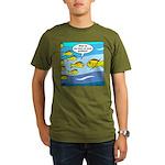 Fish Graduation Organic Men's T-Shirt (dark)