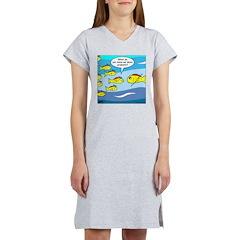 Fish Graduation Women's Nightshirt