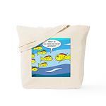 Fish Graduation Tote Bag