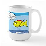 Fish Graduation Large Mug Mugs