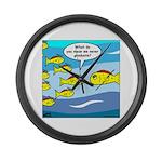 Fish Graduation Large Wall Clock