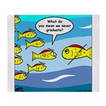 Fish Graduation Throw Blanket