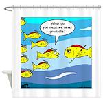 Fish Graduation Shower Curtain