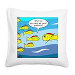 Fish Graduation Square Canvas Pillow