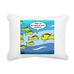 Fish Graduation Rectangular Canvas Pillow