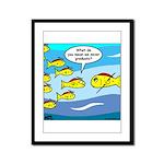 Fish Graduation Framed Panel Print