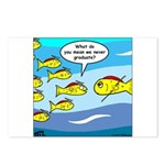 Fish Graduation Postcards (Package of 8)