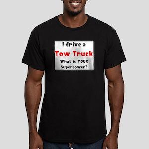 tow truck Men's Fitted T-Shirt (dark)