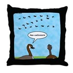 Geese Nonconformists Throw Pillow