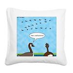 Geese Nonconformists Square Canvas Pillow