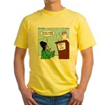 Cat Lady in Heaven Yellow T-Shirt