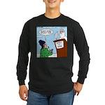 Cat Lady in Heaven Long Sleeve Dark T-Shirt