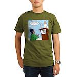 Cat Lady in Heaven Organic Men's T-Shirt (dark)