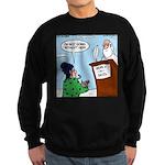 Cat Lady in Heaven Sweatshirt (dark)