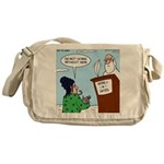 Cat Lady in Heaven Messenger Bag