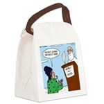 Cat Lady in Heaven Canvas Lunch Bag