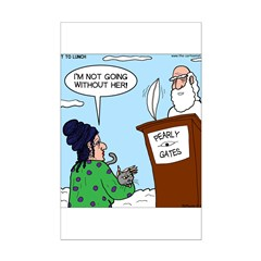 Cat Lady in Heaven Posters