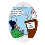 Cat Lady in Heaven Ornament (Oval)