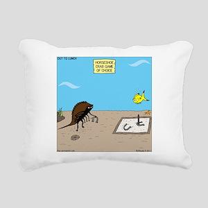 Horseshoe Crab Game Rectangular Canvas Pillow