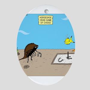 Horseshoe Crab Game Ornament (Oval)