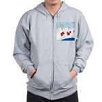 Lobster Vacation Zip Hoodie