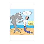 Nurse Shark Mini Poster Print