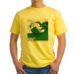 Giant Squid Soaking Yellow T-Shirt