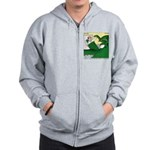 Giant Squid Soaking Zip Hoodie
