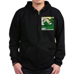 Giant Squid Soaking Zip Hoodie (dark)