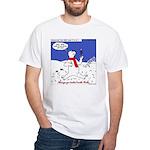 Polar Bear Penguin Pop White T-Shirt