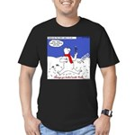 Polar Bear Penguin Pop Men's Fitted T-Shirt (dark)