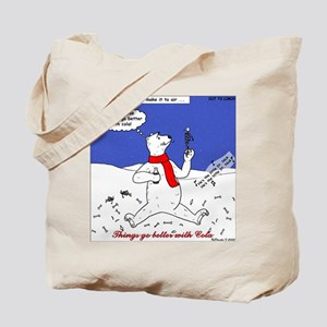 Polar Bear Penguin Pop Tote Bag