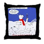 Polar Bear Penguin Pop Throw Pillow