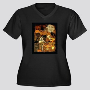 Witch's Stew Women's Plus Size V-Neck Dark T-Shirt