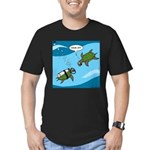 Seaturtle SCUBA Men's Fitted T-Shirt (dark)