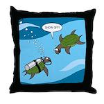 Seaturtle SCUBA Throw Pillow