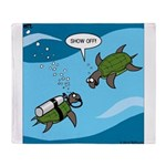 Seaturtle SCUBA Throw Blanket