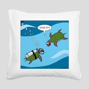 Seaturtle SCUBA Square Canvas Pillow