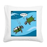 Seaturtle SCUBA Square Canvas Pillow