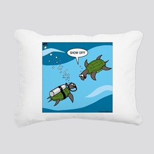 Seaturtle SCUBA Rectangular Canvas Pillow